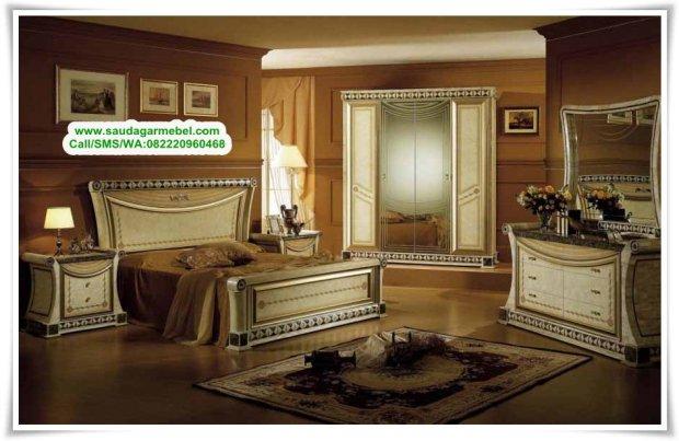 Kamar Set Mewah Mahkota Modern, Tempat Tidur Terbaru, Tempat Tidur Jepara, Desain Kamar Set Jepara