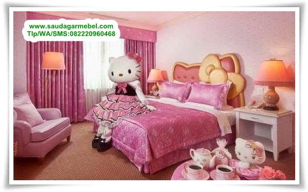 set-tempat-tidur-anak-perempuan-hello-kitty