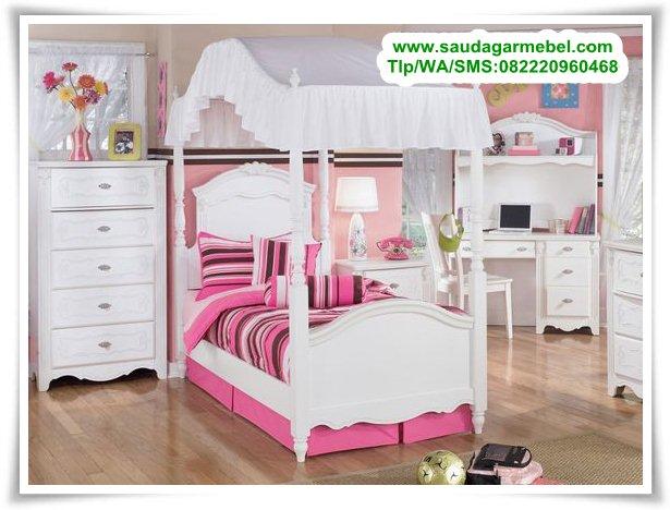 set-tempat-tidur-anak-pink-terbaru